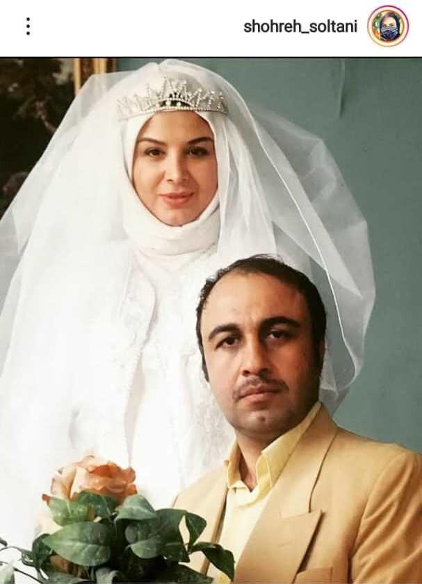 عکس | شهره سلطانی با لباس عروس در کنار رضا عطاران