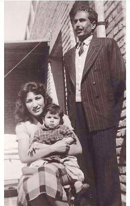 فروغ فرخزاد پرویز و کامیار شاپور, عکس فروغ فرخزاد با همسر و پسرش
