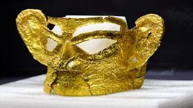 کشف ماسک طلایی تاریخی در چین