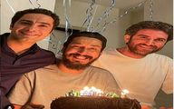 تبریک تولد بهرام افشاری به سبک نوید محمدزاده و هوتن شکیبا + عکس