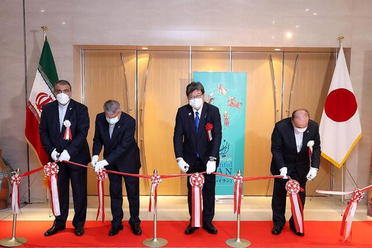 """افتتاح نمایشگاه """"ایران زیبا"""" در محل سفارت ایران در ژاپن"""