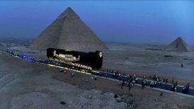 قایق باستانی فرعون به خانه جدید رفت